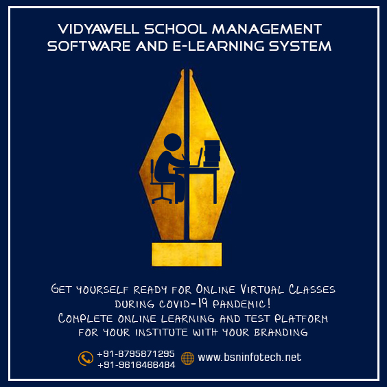 School Management Software | eLearning School ERP | VidyaWell