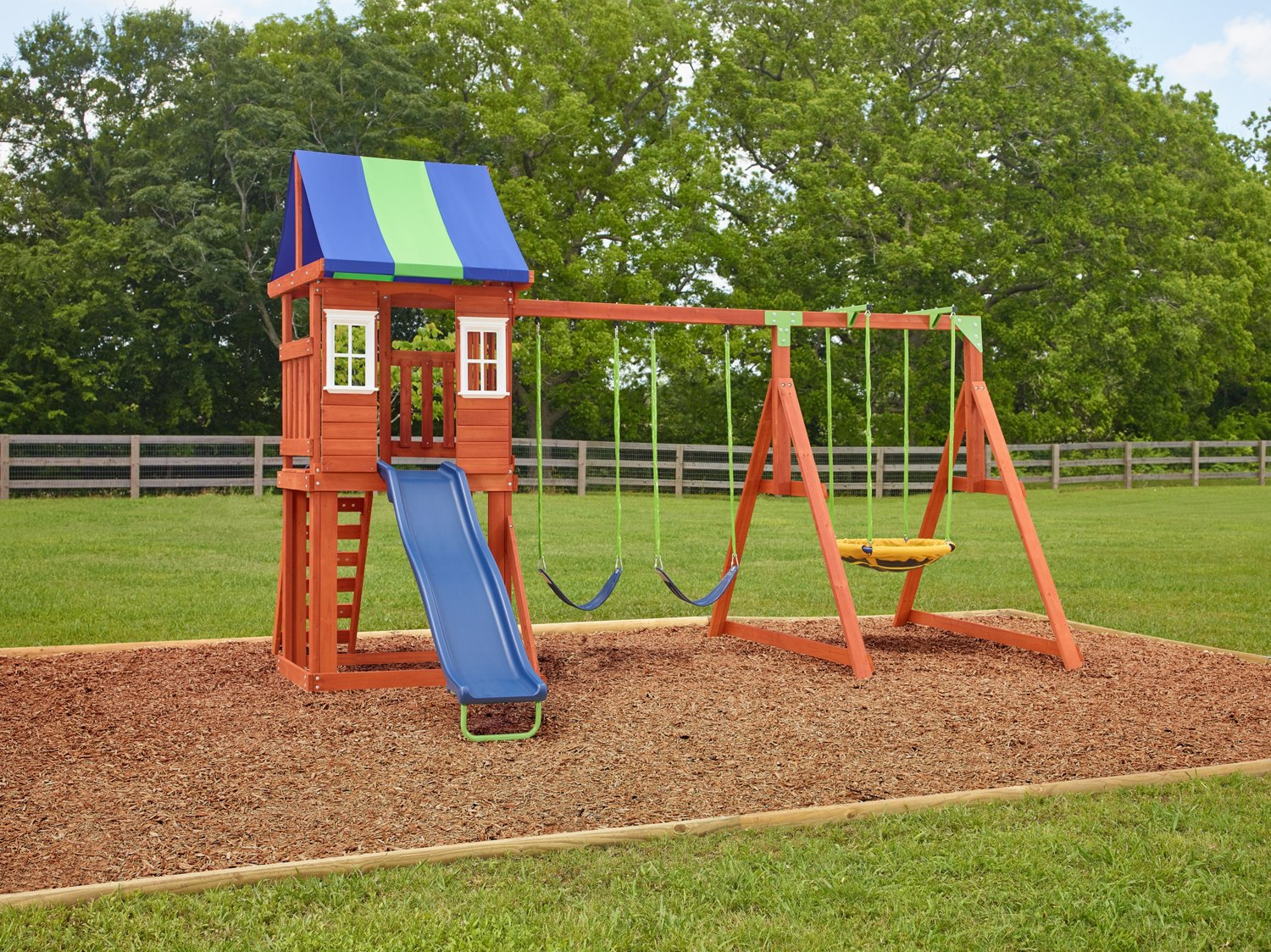 Kids Wooden Swing Sets