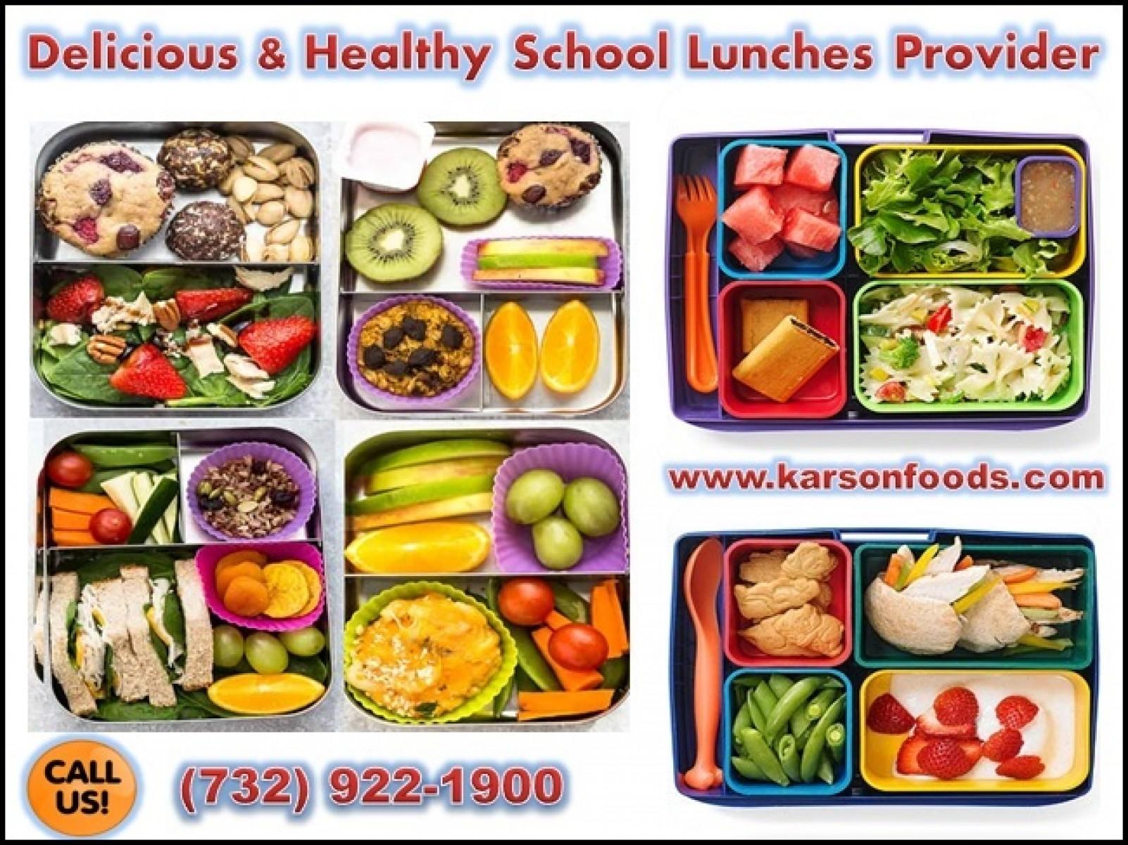 Healthy School Lunch Menus for Kids @ Reasonable Prices   NJ