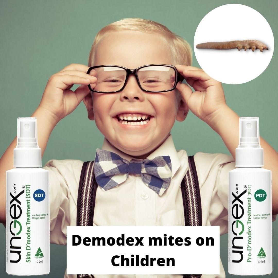 Demodex mites on and children