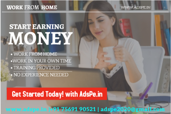 Real home bases job, Ad posting part time work earn daily and weekly basis