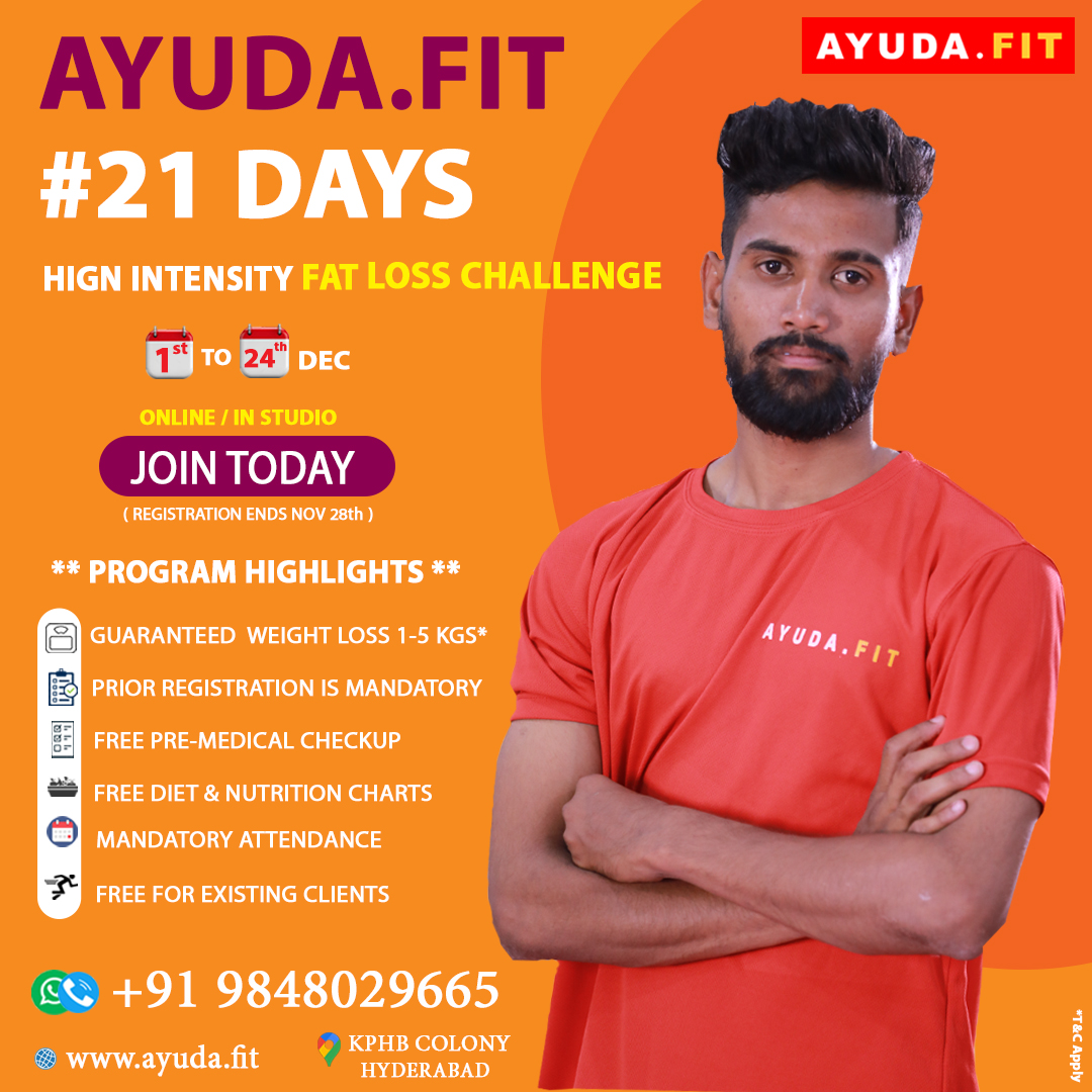 Weight Loss challenges Online Classes Available in Studio @kukatpally