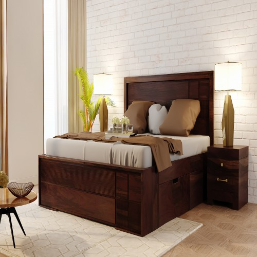 Buy Wooden Double Bed Online in India at Affordable Price
