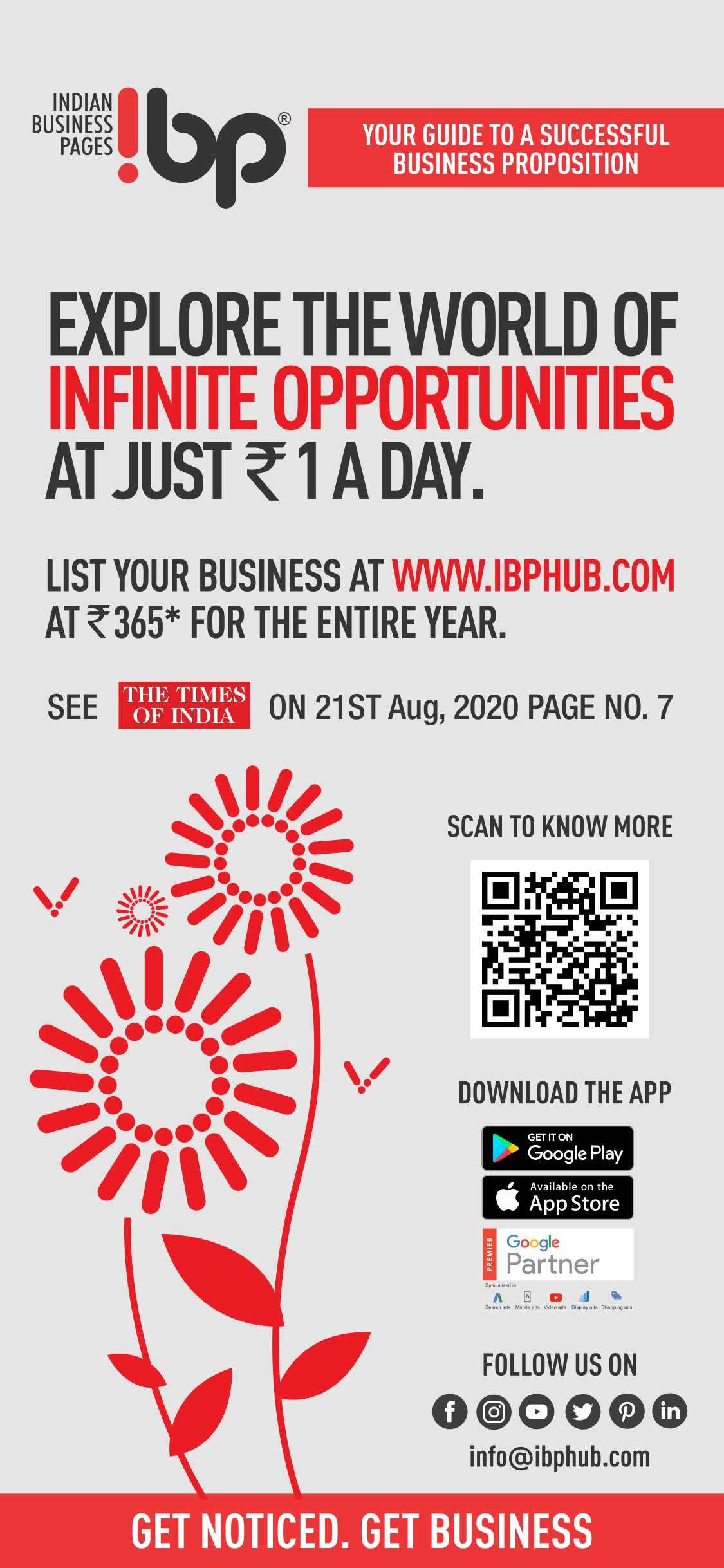 Explore the world of infinite opportunities at just Rs. 1 per day.