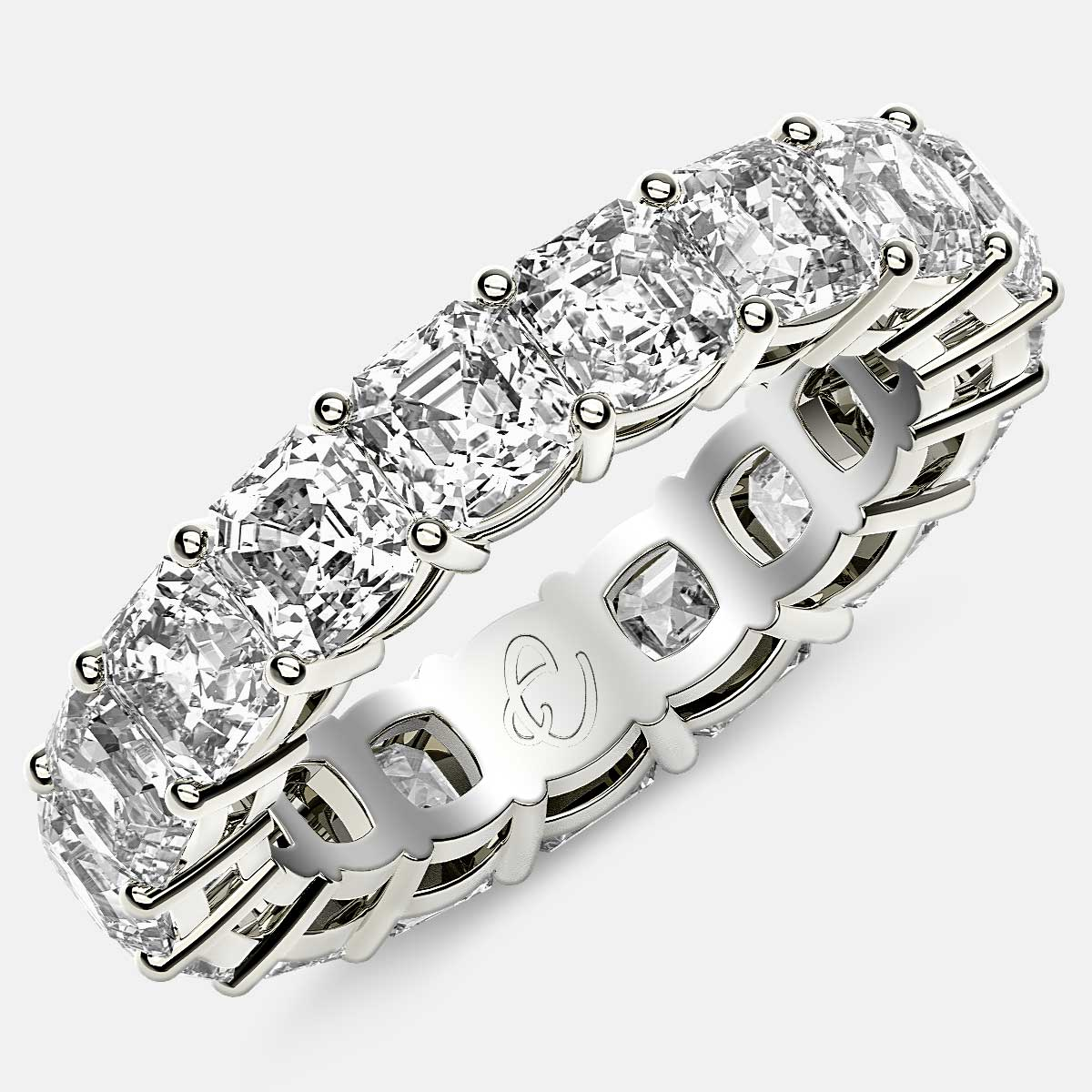 Best Offer on Asscher Cut Diamond Band in Platinum - www.eternityus.com