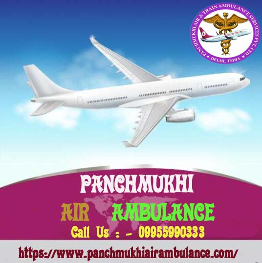 Emergency Panchmukhi Charter Air Ambulance Service in Mumbai