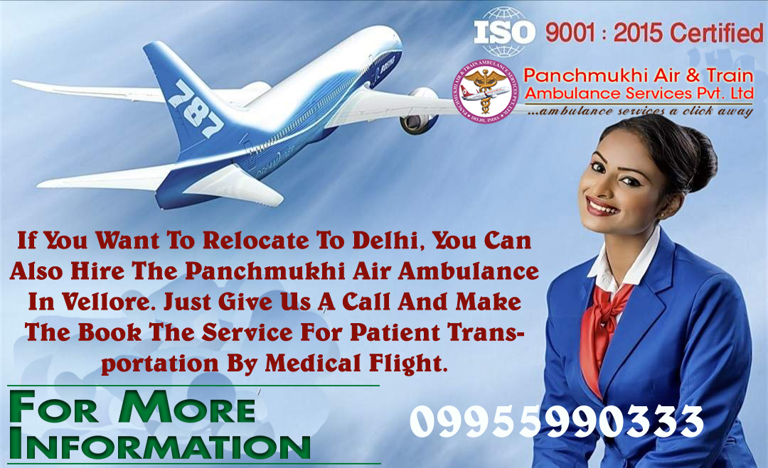 Get Best and Trusted Charter Air Ambulance in Vellore