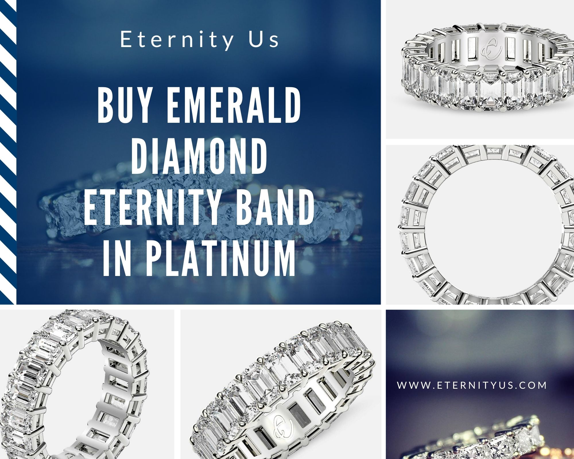 Buy Emerald Diamond Eternity Band in Platinum at Best Price - www.eternityus.com