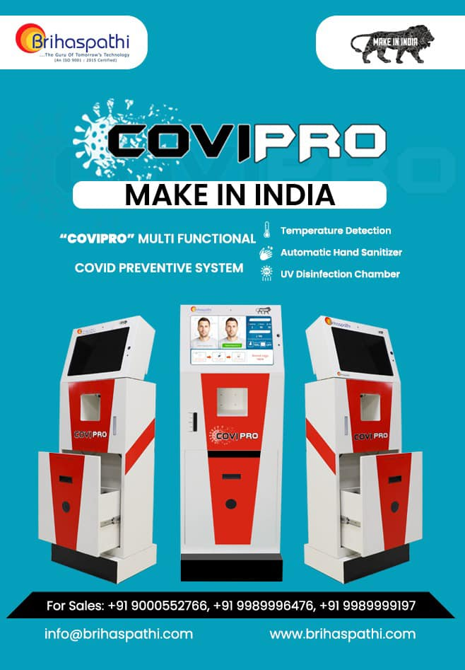 COVI-PRO the Best Temperature Detector Sensor| Automatic Hand Sanitizer with UV disinfection System