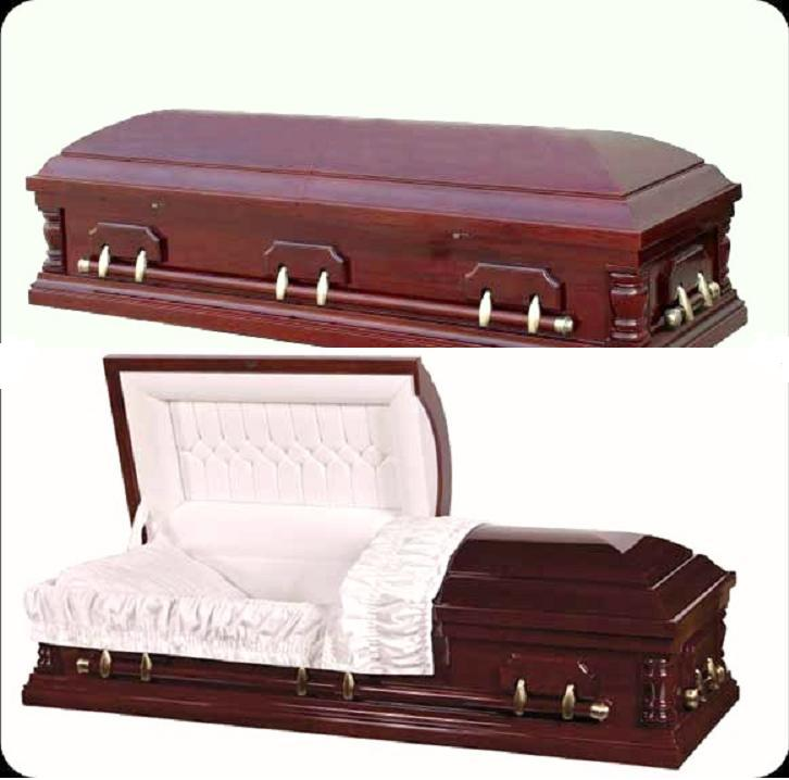 Cherry Veneer Wood Casket