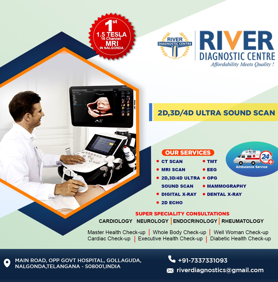 Diagnostic |MRI |CT Scan Center| health care services in Nalgonda and Telangana