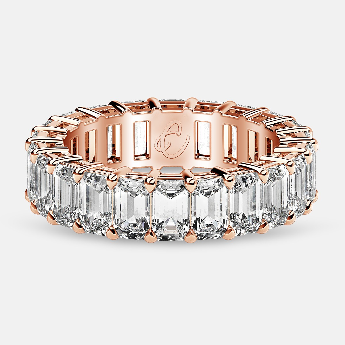 Online Best Offer to Buy Rose Gold Emerald Eternity Band - www.eternityus.com
