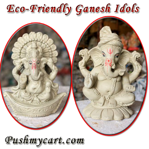 buy Eco- friendly Clay Ganesh Idol Online