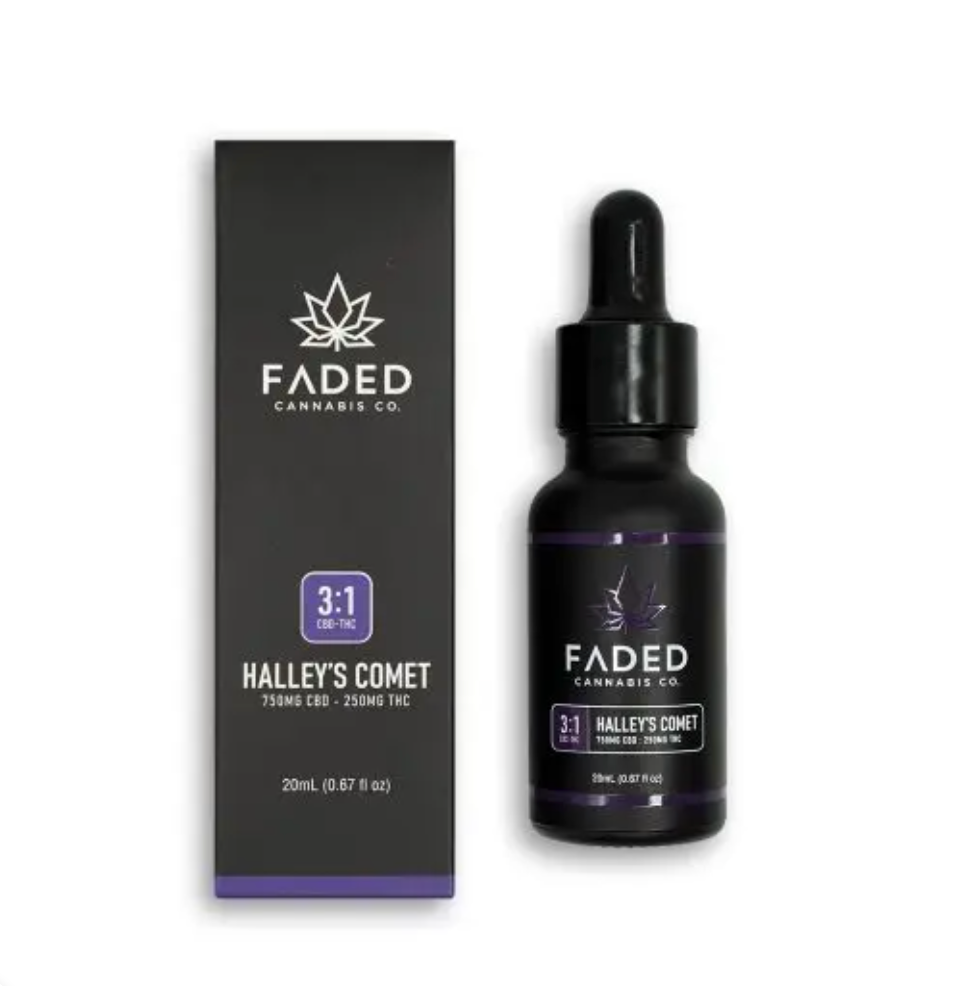 FADED CANNABIS CO. 3:1 CBD – THC TINCTURE HALLEY'S COMET