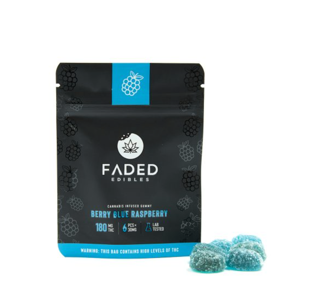 FADED EDIBLES – BERRY BLUE RASPBERRIES