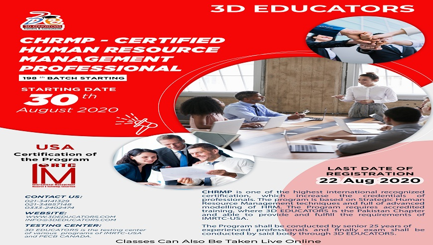 CHRMP - Certified Human Resource Management Professional Training