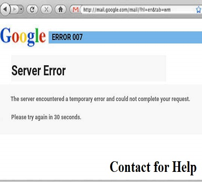 How to resolve Gmail Server Error 007