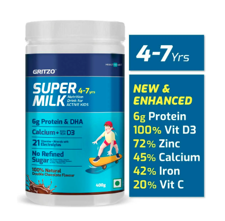 Best Health Drinks For Kids - SUPERMILK ACTIVE - Gritzo