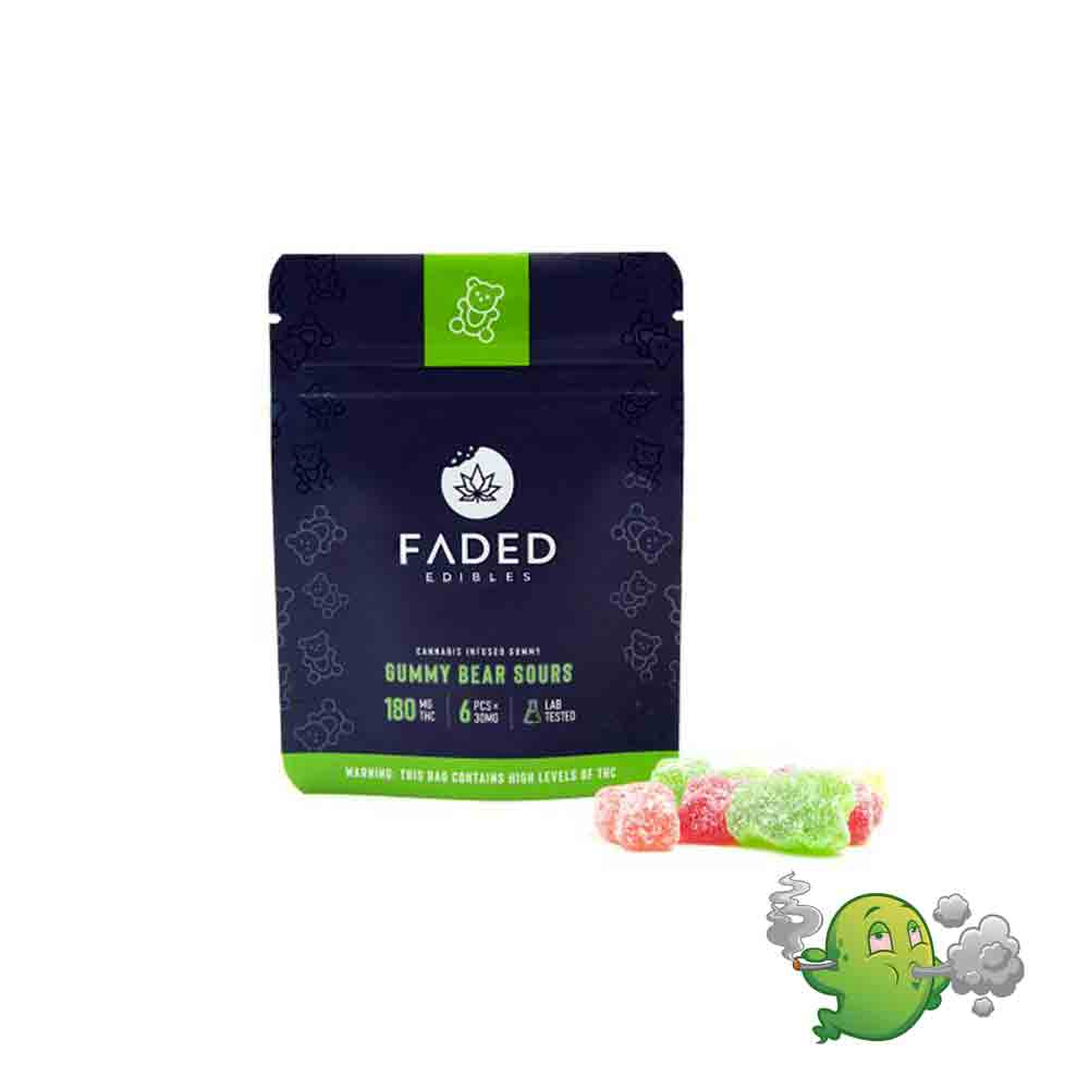 Gummy Sour Bears by Faded Edibles