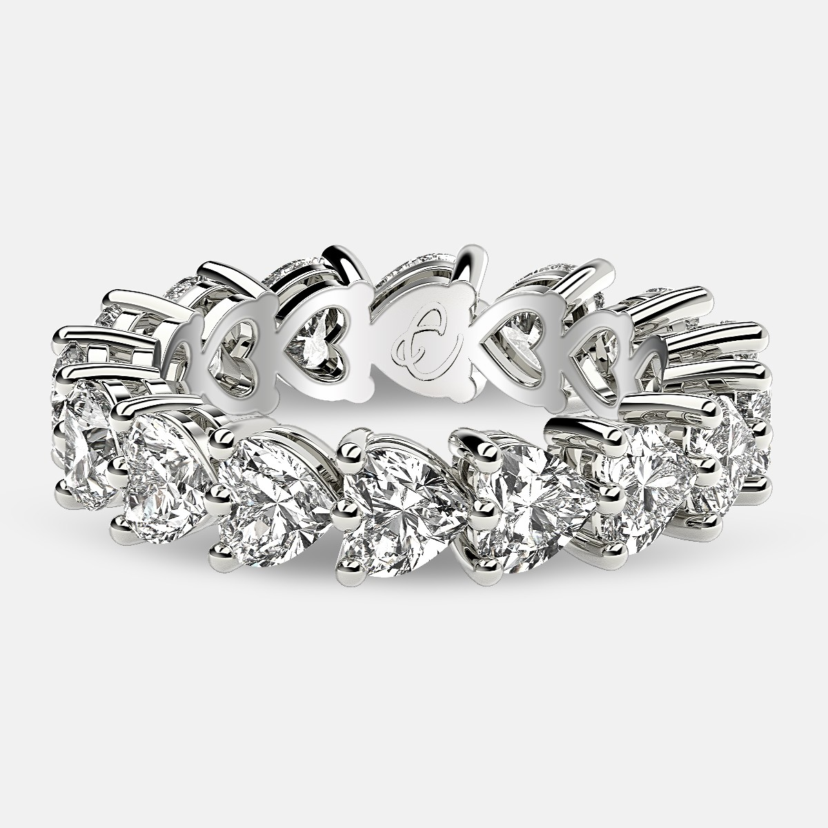 Pretty Heart Eternity Ring at Best Price -  www.eternityus.com