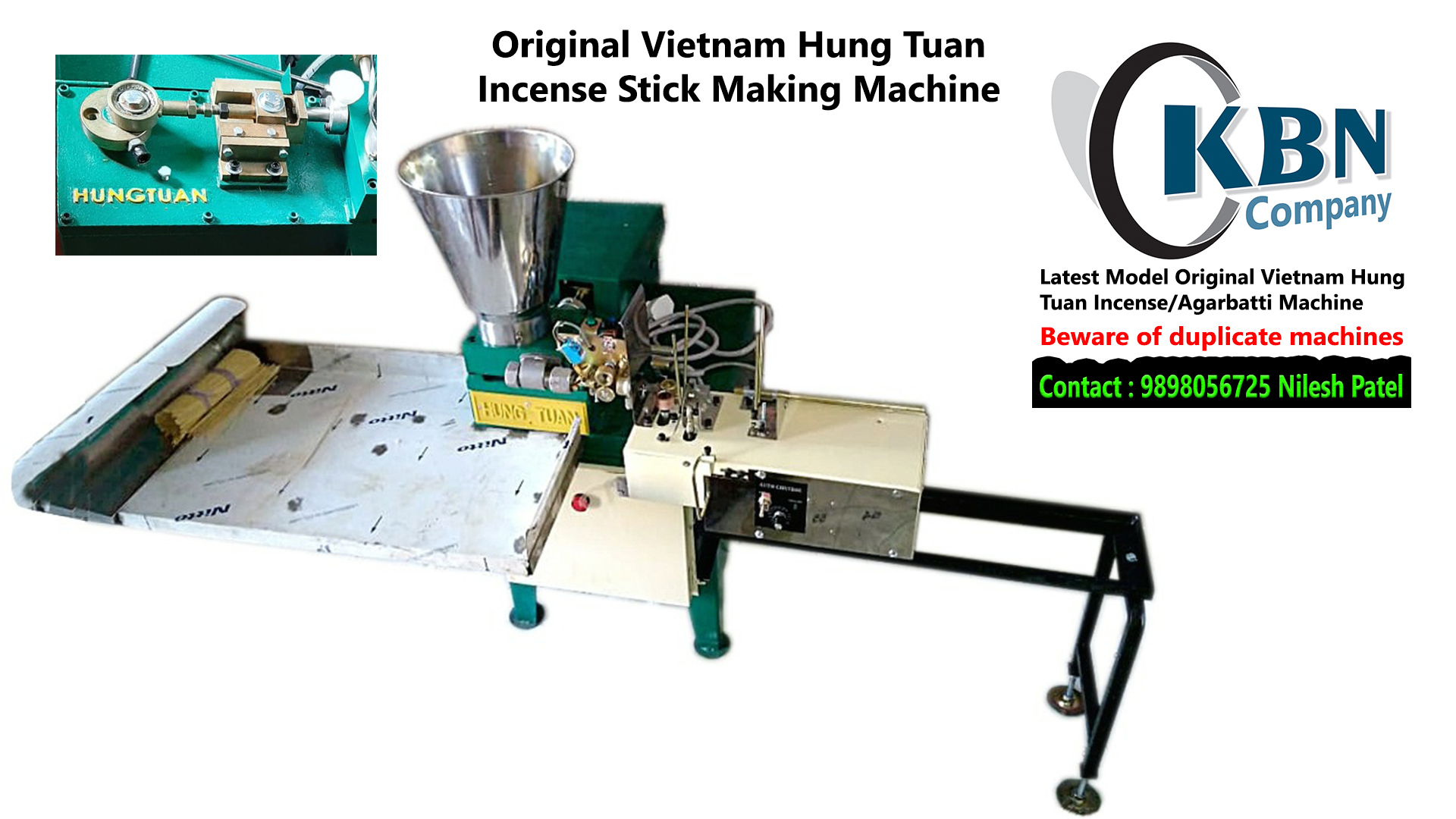 Original VIETNAM HUNG TUAN Incense/Agarbatti Making Machine.