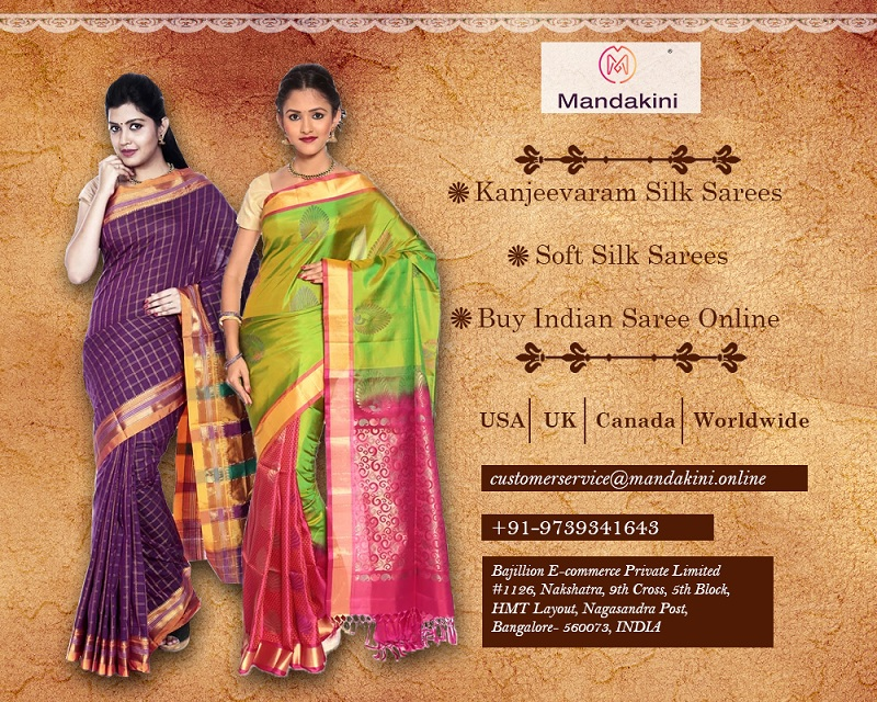 Best Indian Wedding Saree | Pure Silk Saree Online - Mandakini