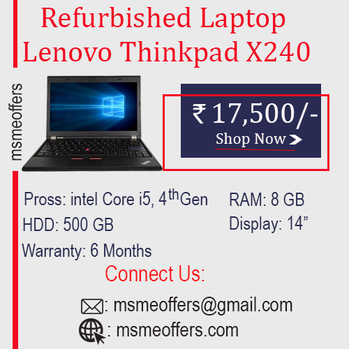 Refurbished Lenovo thinkpad X240 Laptop