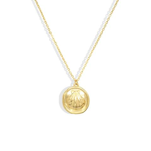 Mermaid Shell Coin Necklace