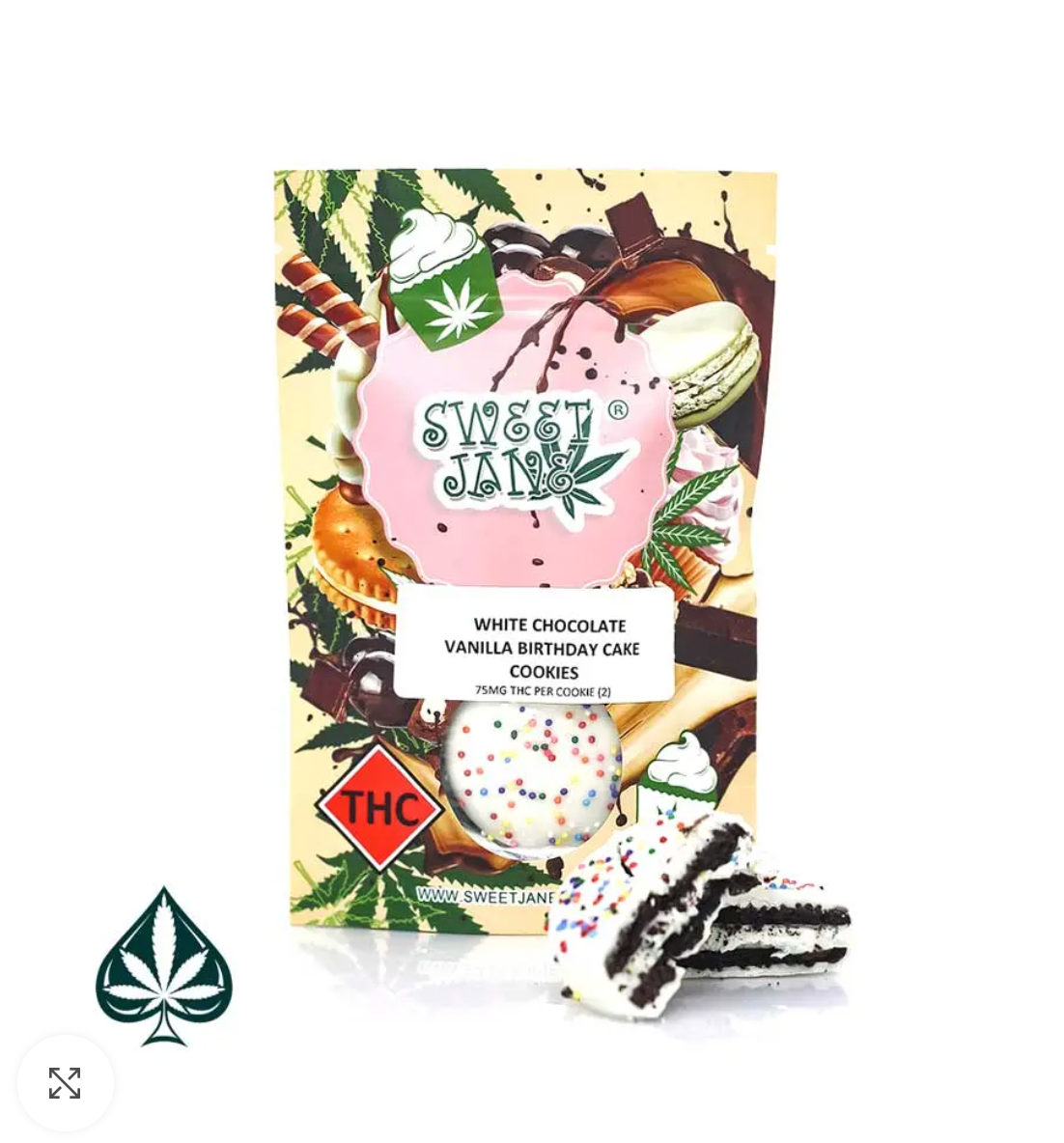 MILK CHOCOLATE VANILLA BIRTHDAY CAKE CREAM COOKIES BY SWEET JANE – 150MG