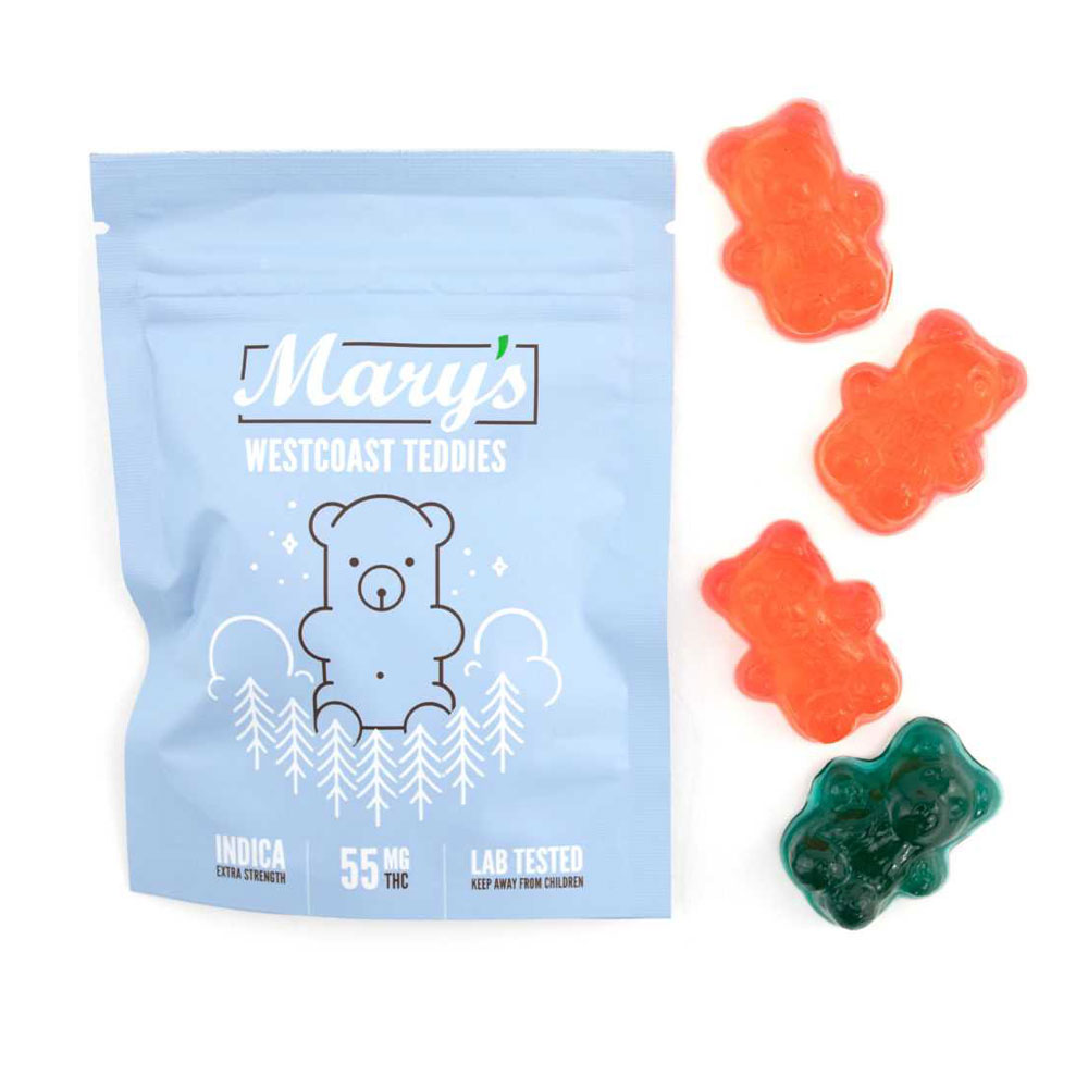 Mary's Medibles – Westcoast Teddies – Indica – 55mg