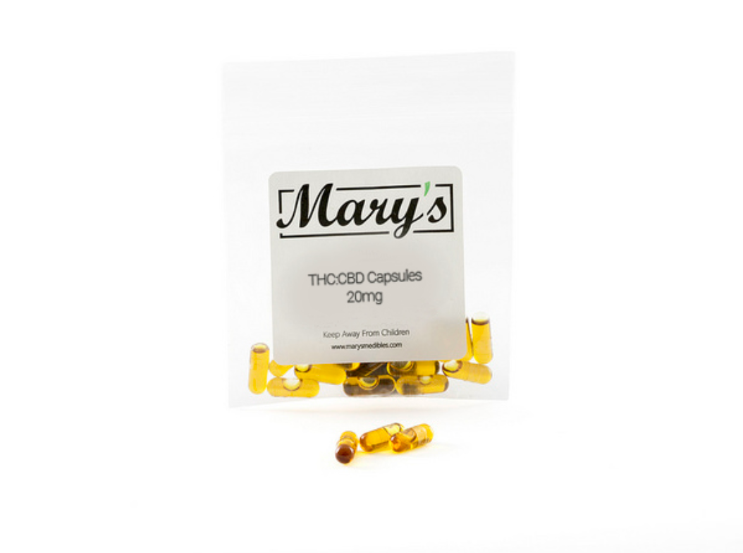 Mary's Medibles 1:1 THC CBD Capsules 20mg