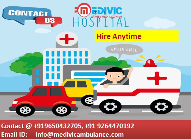 Hi-Tech Medical Road Ambulance in Patna-Medivic