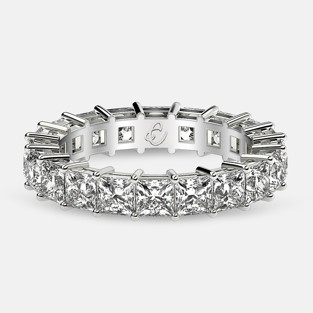 Online Order Princess cut eternity ring in Platinum - www.eternityus.com