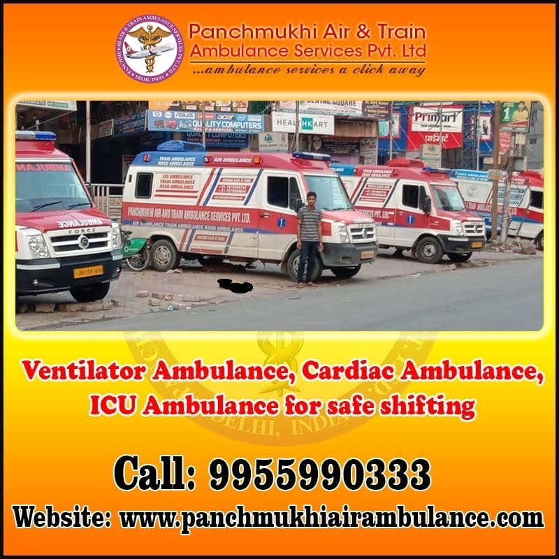 Panchmukhi North East Ambulance Service in Guwahati at Low-Cost