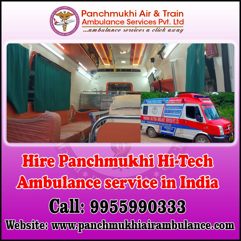 Ventilator Ambulance Service in East Siang by Panchmukhi North East