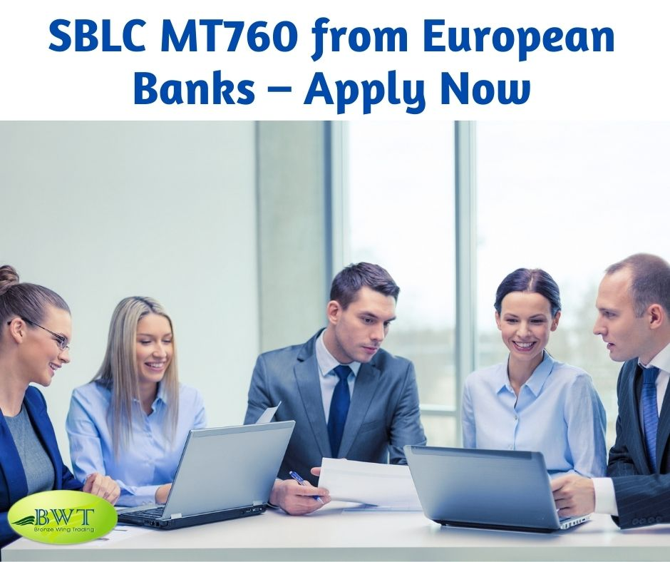 SBLC MT760 from European Banks – Apply Now