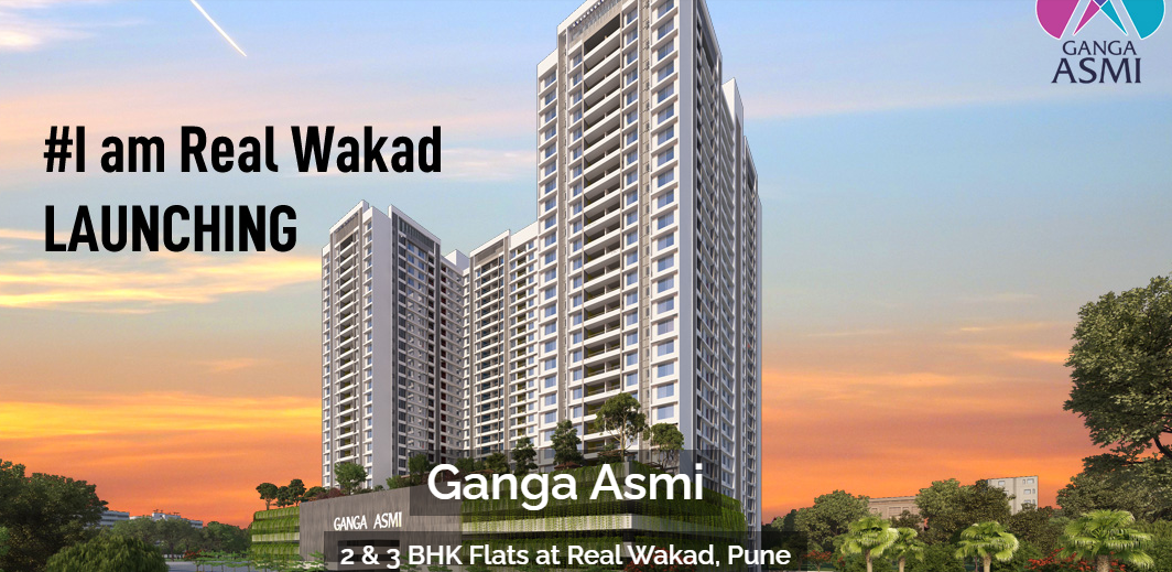 Buy 2 & 3 BHK Luxurious Flats in Wakad Pune | Ganga Asmi