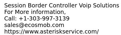 Session Border Controller (SBC) Voip Service providers