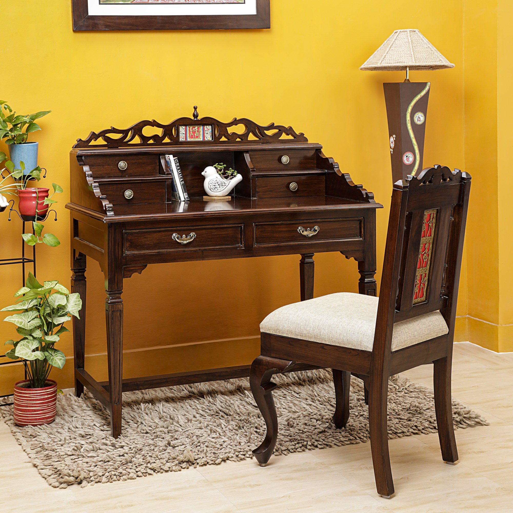 Stylish Study Table In Teakwood
