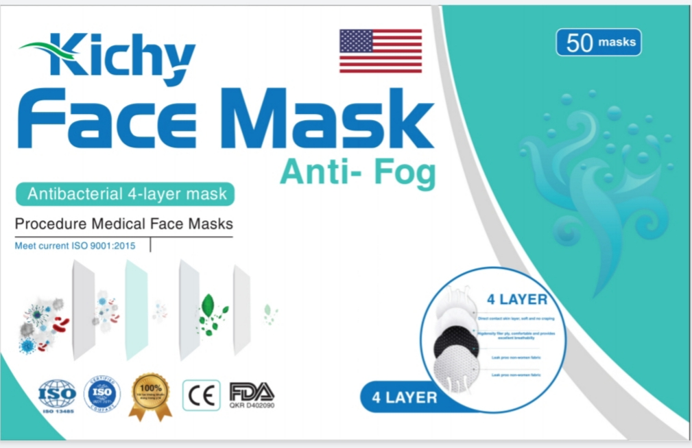 4 PLY Ear loop Melt blown Medical Face Mask Distributor in USA