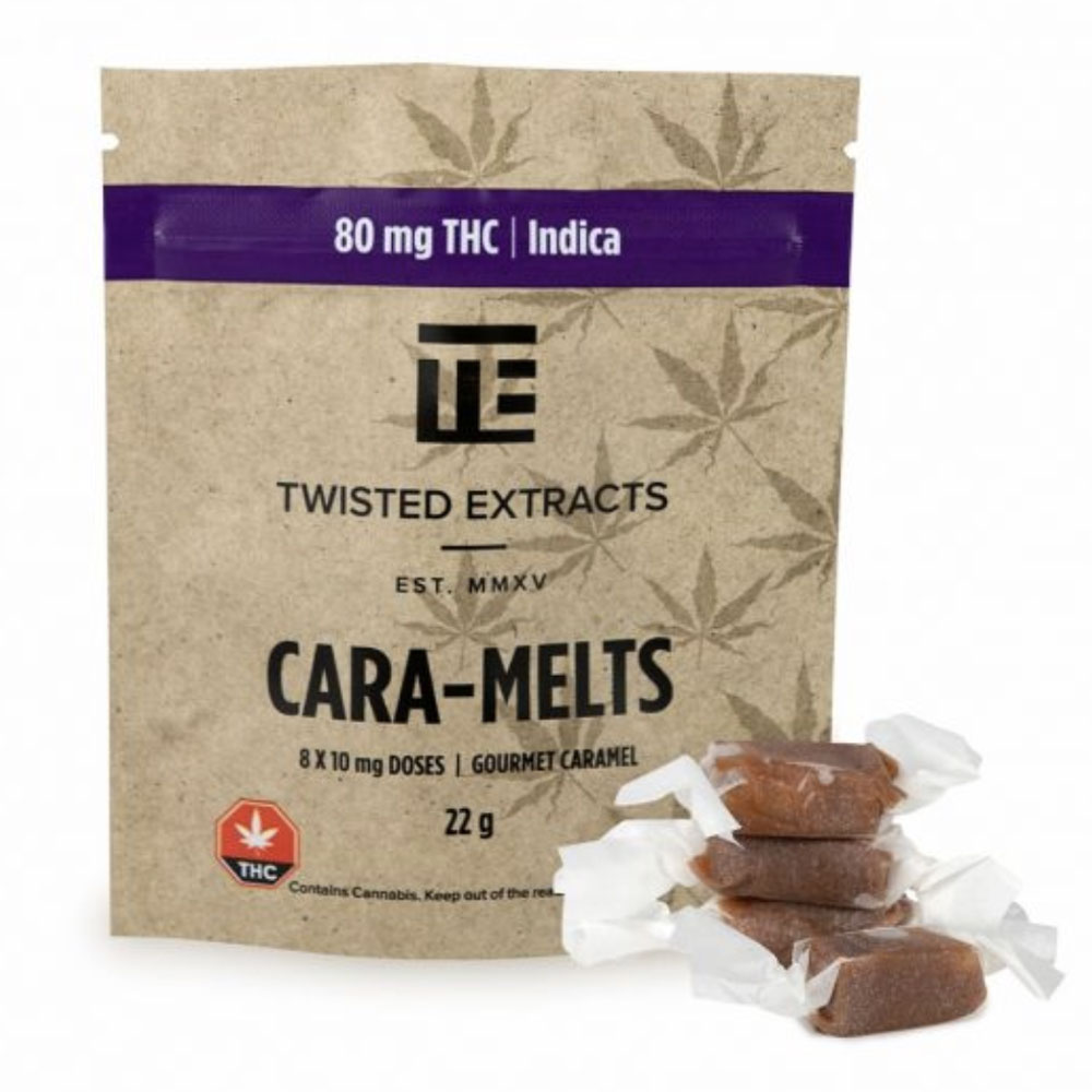 Twisted Extracts – Caramelts – Indica – 80mg THC