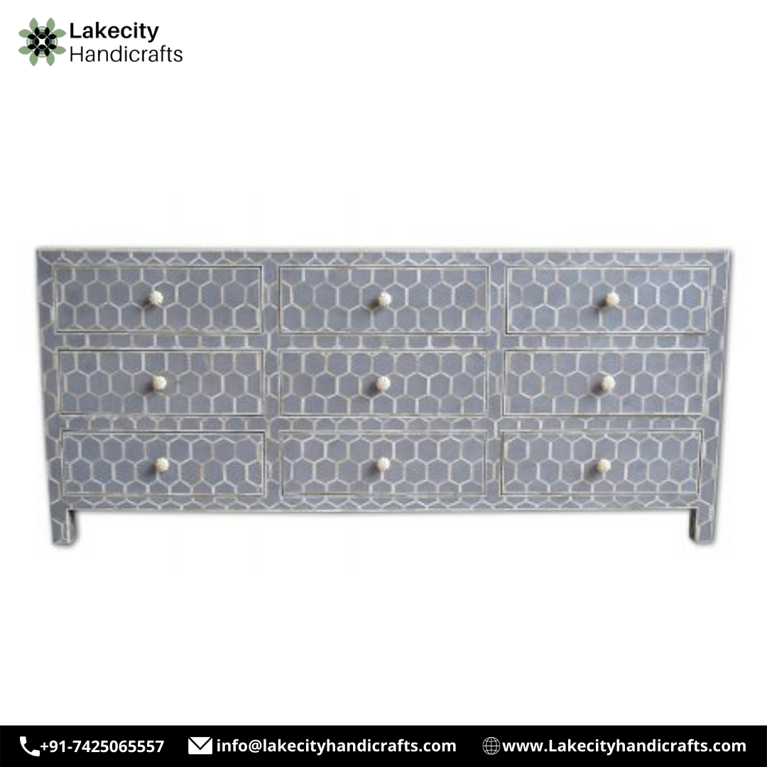 Bone Inlay Sideboard - Luxury Handicrafts