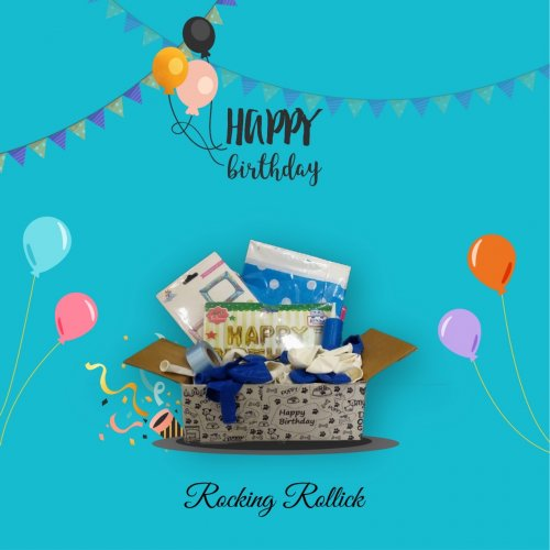 A New,Rollicking,Birthday decoration Kit