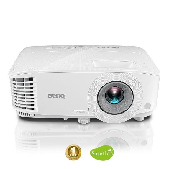 Projector  for business presentation with dual HDMI inputs.