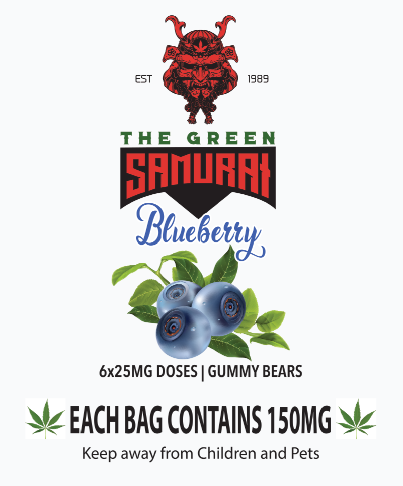 Blueberry Bear Bombs The Green Samurai