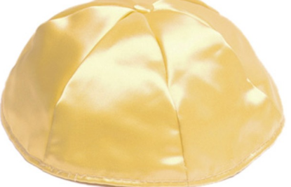Gold Satin Kippah