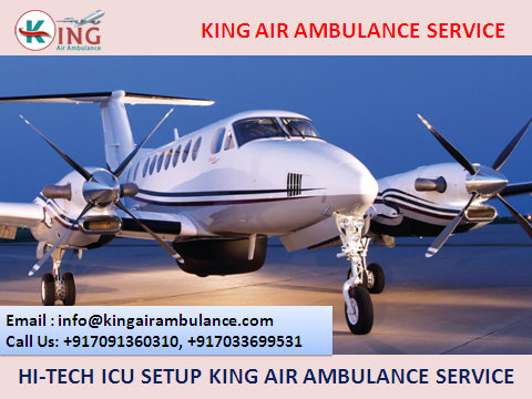 Advanced Emergency Air Ambulance in Ranchi by King