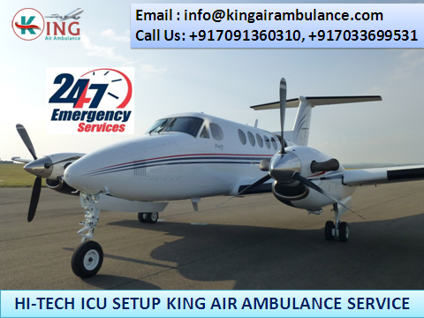 Get Classy Air Ambulance in Kolkata at Low-Fare by King