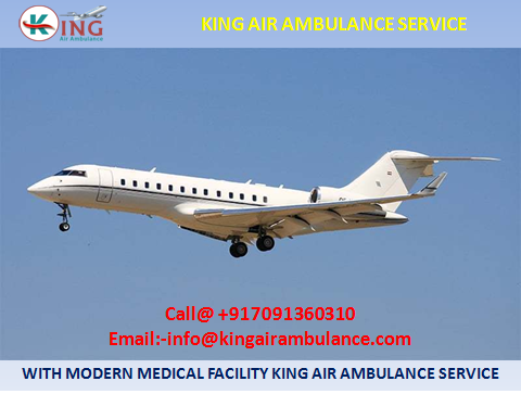 King Patient Transfer Air Ambulance Service in Guwahati