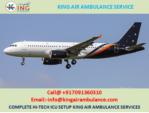 Air Ambulance in Patna with Well Trend Medical Team by King Ambulance